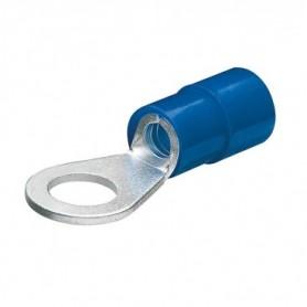 Boîte 100 Cosses Rondes Bleues Ø3mm